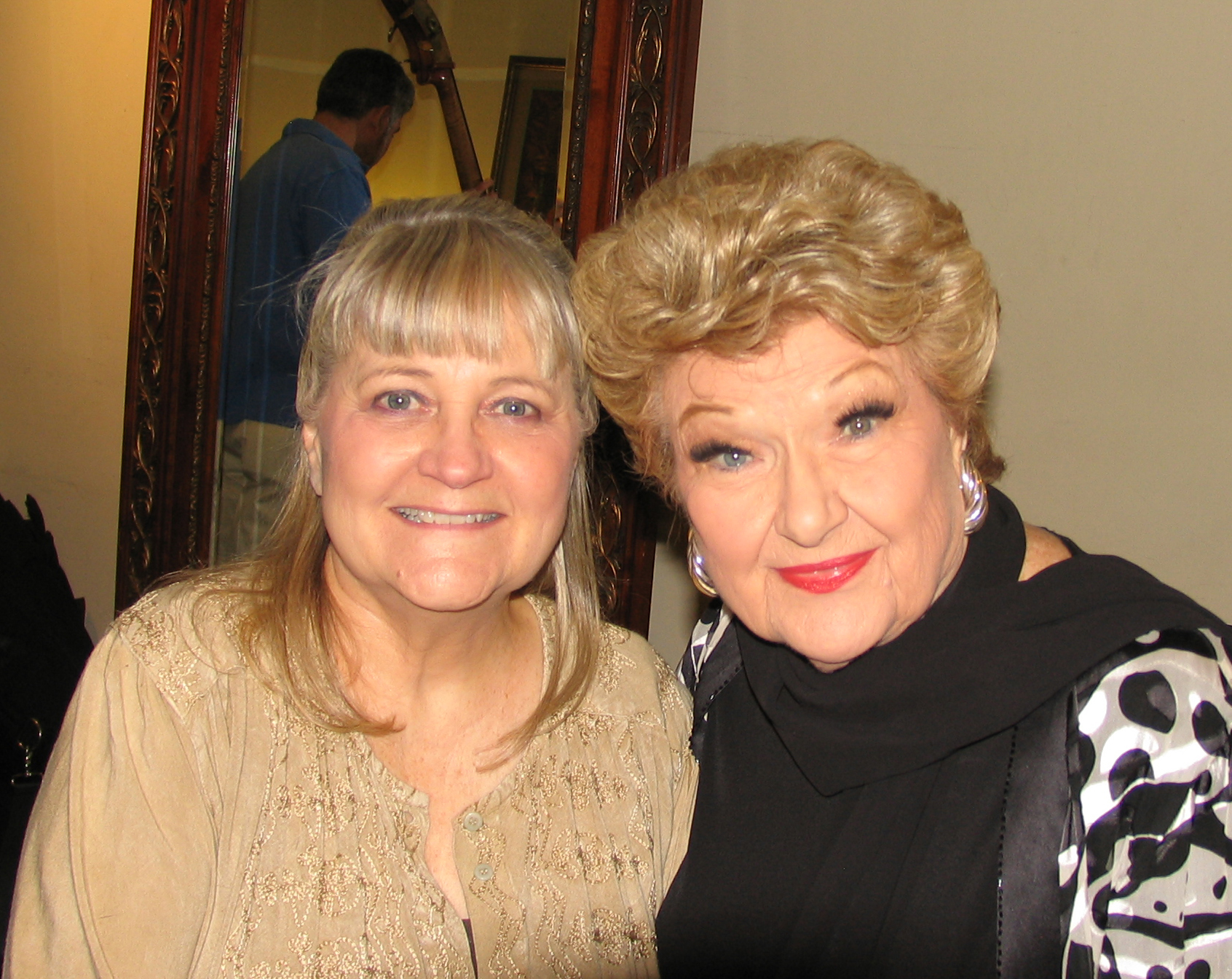 Debbi and Marilyn at the rehearsal studio before the show